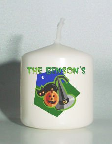 set of 6 Halloween Party Votive Candles Custom Favors or Add to Gift baskets Personalized