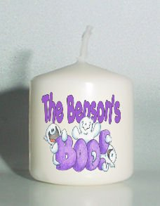 set of 6 Halloween Ghost Votive Candles Custom Favors or Add to Gift baskets Personalized