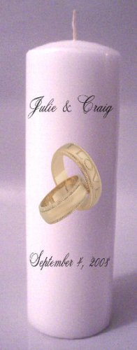 UNITY 9 inch Pillar Candles Wedding Custom Personalized