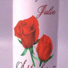 UNITY Candles Red Roses 9 inch Pillar  Wedding Custom Personalized