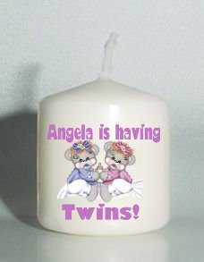 6  Custom Votive Candles TWINS Baby Shower FavorsPersonalized