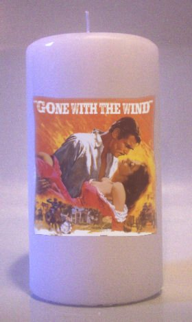 GONE WITH THE WIND Collectable Pillar Candles 6 inch  Home Decor