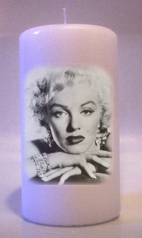 MARILYN MONROE 6 inch Pillar Candles Collectable Home Decor