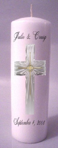 UNITY Candles Bright Cross 9 inch Pillar Wedding Custom Personalized