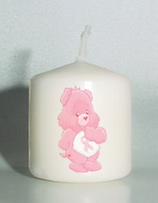 Breast Cancer Care Bear Ribbon set of 6 Votive Candles  Add to Gift baskets