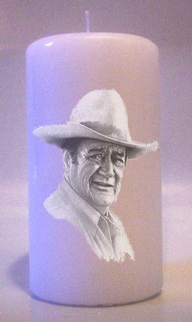 Candles JOHN WAYNE 6 inch Pillar  Collectable Home Decor