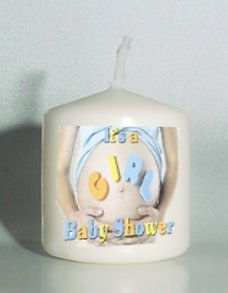 6 It's a Girl Baby Shower Custom Favors Votive Candles