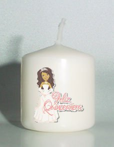 6 Custom Quinceanera Birthday Favors Votive Candles #1