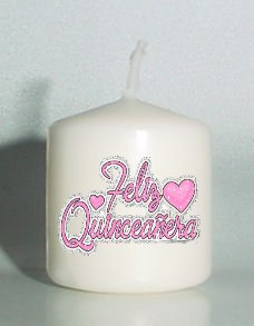 6  Quinceanera Birthday Favors Custom Votive Candles #3