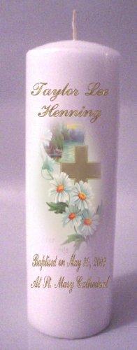 Pillar 8 inch  Baptisim, Communion, Confirmation Candles Custom Personalized #4