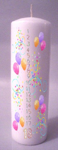 COUNTDOWN Birthday 8 inch Pillar Candle - SCENTED