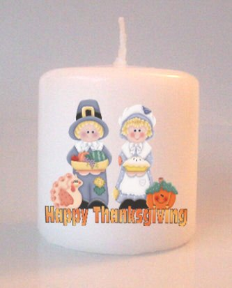 Fall Thanksgiving  Small 3 inch Pillar Candles Custom Favors Add to Gift baskets Personalized