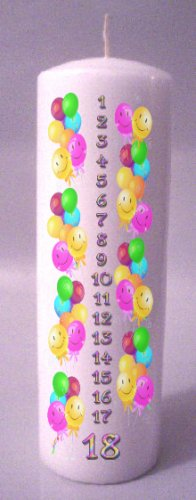 Birthday COUNTDOWN  8 inch Pillar Candle - SCENTED