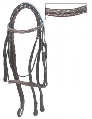 Gatsby Fancy Stitched English Bridle