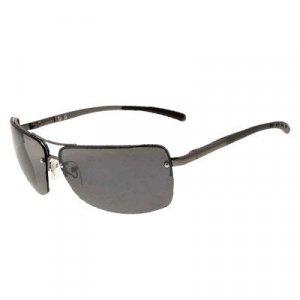 Silvery Metal Frame Men Eyeglass Fishing Sunglass