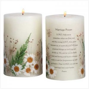 """""""Marriage Prayer"""" Candle"""
