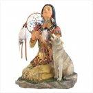 39355 Wolf Priestess Statue
