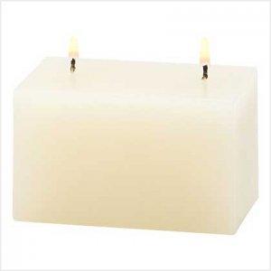 39231 Ivory Vanilla Brick Candle