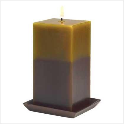 39218 Earthtone Pillar Candle