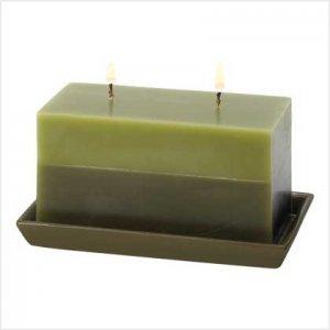 39220 Two-Tone Greenery Candle