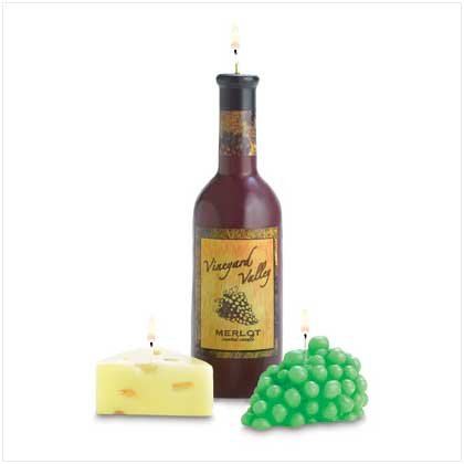 38538 Wine And Cheese Candle Set