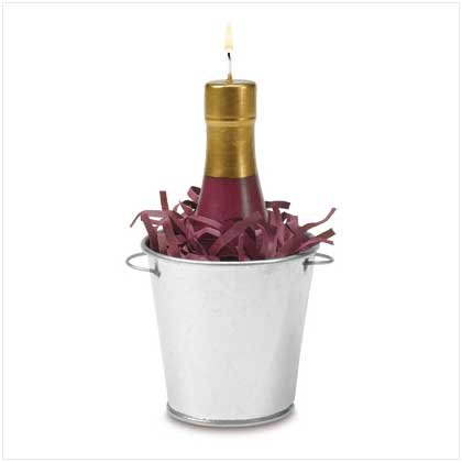 38540 Wine Bottle Candle