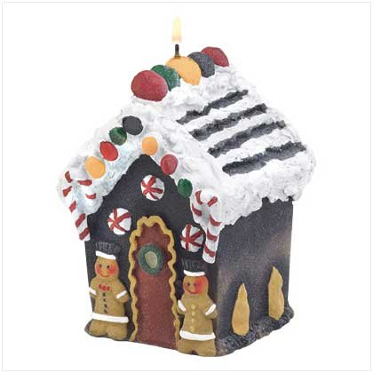38898 Gingerbread House Candle