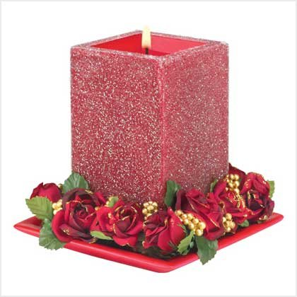 39237 Red Stardust Candle