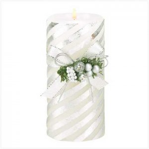 39207 Silver Stripes Candle