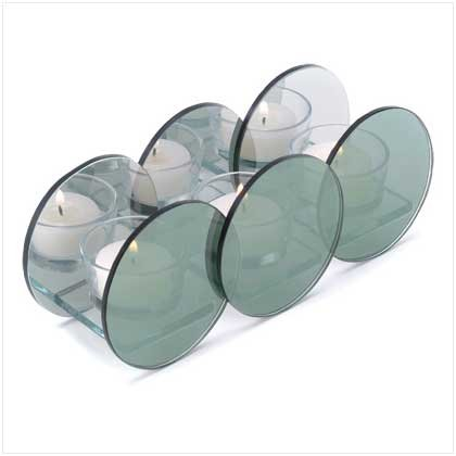 38590 Reflective Circle Candleholder