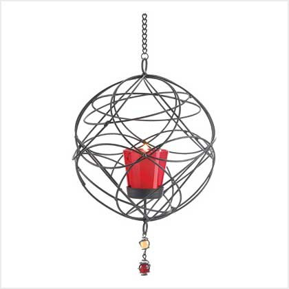 38953 Wire Webwork Candleholder