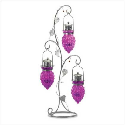 37872 Grapes Iron Candleholder
