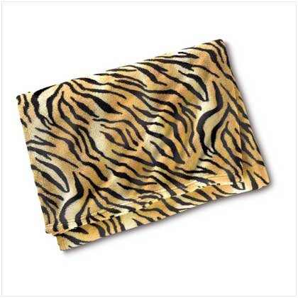 38798 Microfiber Tiger Print Throw