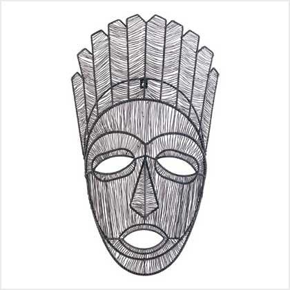 39012 Tribal Mask Wall Sculpture