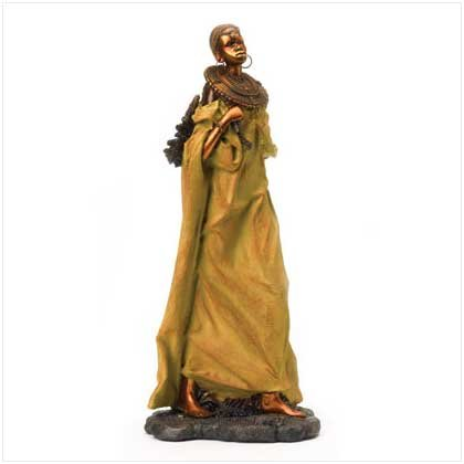 37913 Masai Woman with Firewood Figure