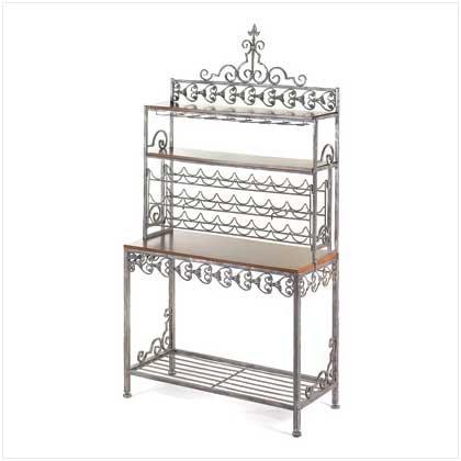 38234 Ornate Wine Rack