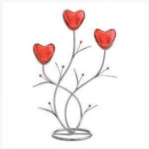 37871 Rose Iron Candleholder