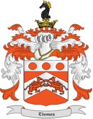 Thomas Coat of Arms in Cross Stitch