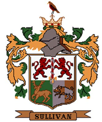 Sullivan Coat of Arms in Cross Stitch