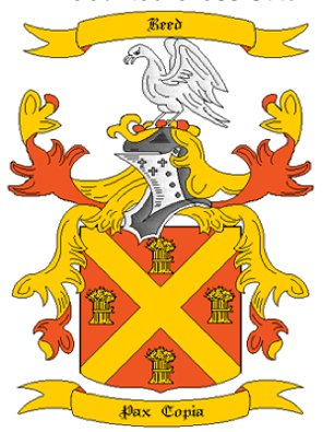 Reed Coat of Arms in Cross Stitch