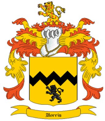Morris Coat of Arms in Cross Stitch