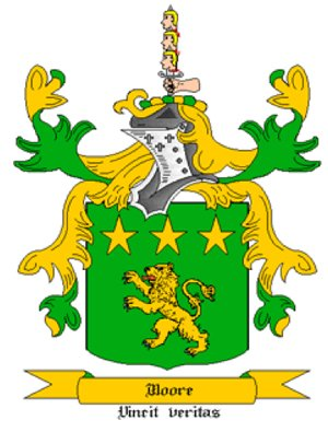 Moore Coat of Arms in Cross Stitch