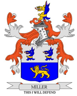 Miller Coat of Arms in Cross Stitch