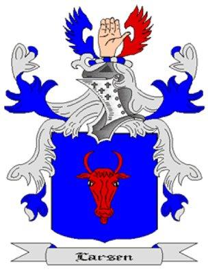Larsen Coat of Arms in Cross Stitch