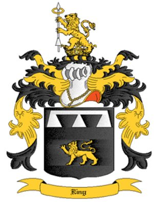 King Coat of Arms in Cross Stitch