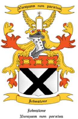 Johnston Coat of Arms in Cross Stitch