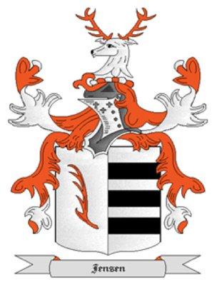 Jensen Coat of Arms in Cross Stitch