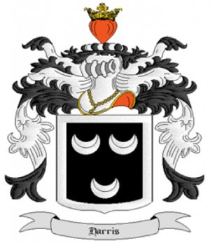 Harris Coat of Arms in Cross Stitch