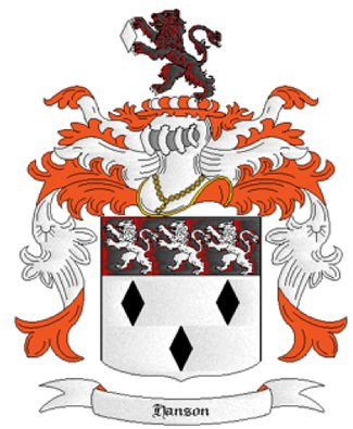 Hanson Coat of Arms in Cross Stitch