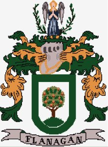 Flanagan Coat of Arms in Cross Stitch